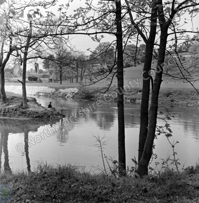 Fishing, River Derwent, Kirkham Abbey, 1964